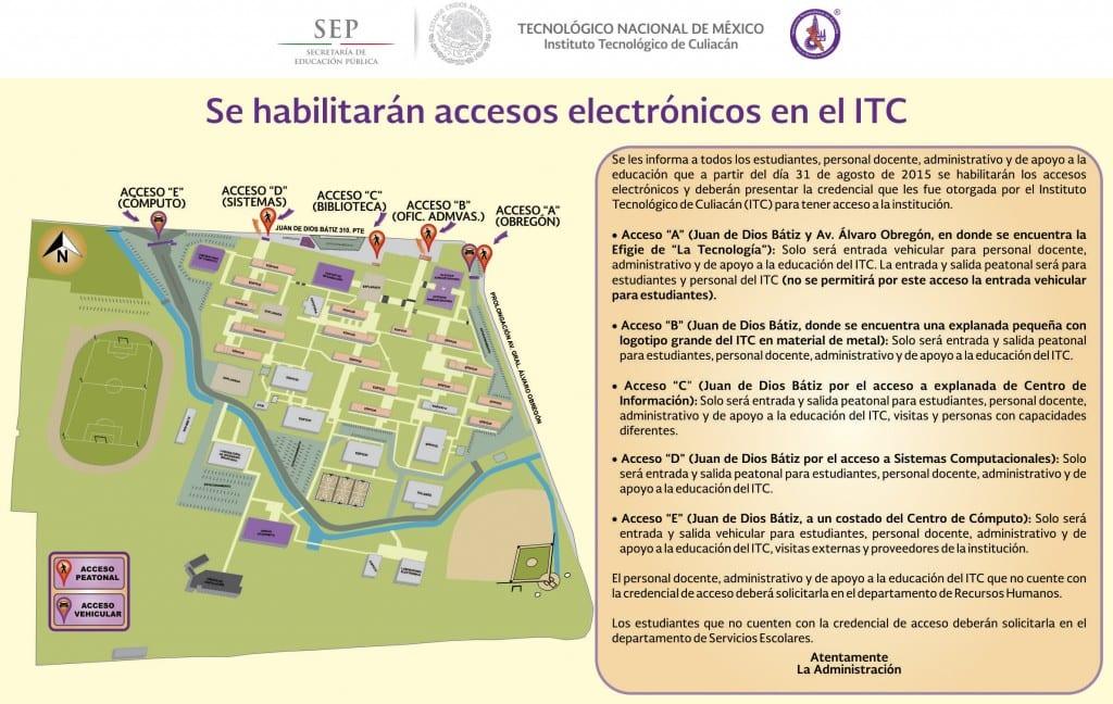 MAPA DE ACCESOS ITC 2015