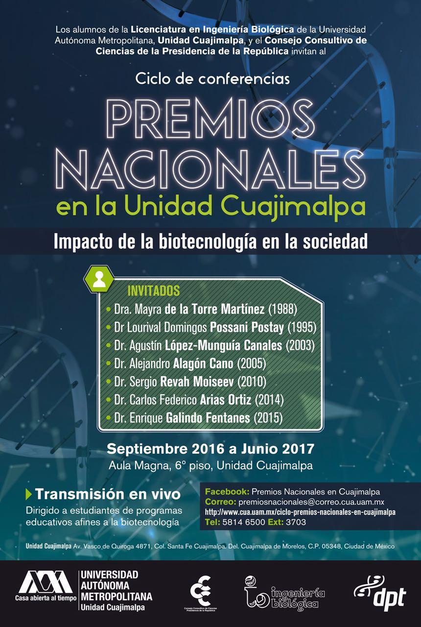 POSTER PREMIOS NACIONALES CUAJIMALPA 2016