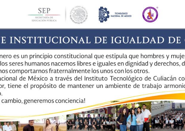 MENSAJE INSTITUCIONAL IGUALDAD DE GENERO AGOSTO 2017